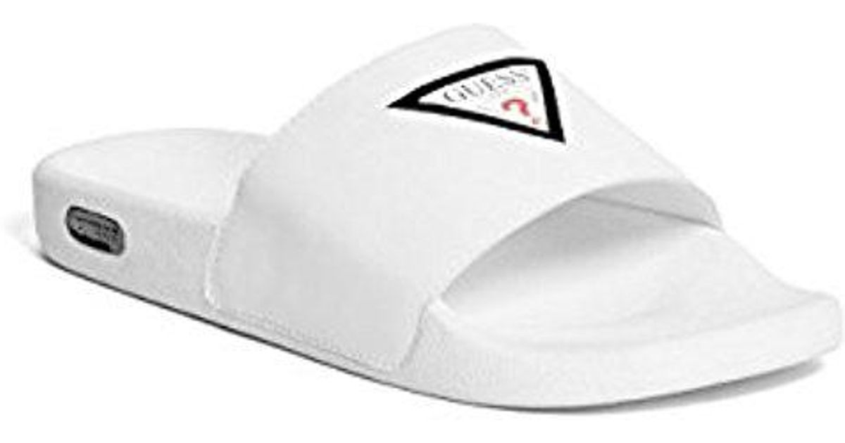 94525cde15ad59 Lyst - Guess Isaac Slide Sandals in White for Men - Save 24%