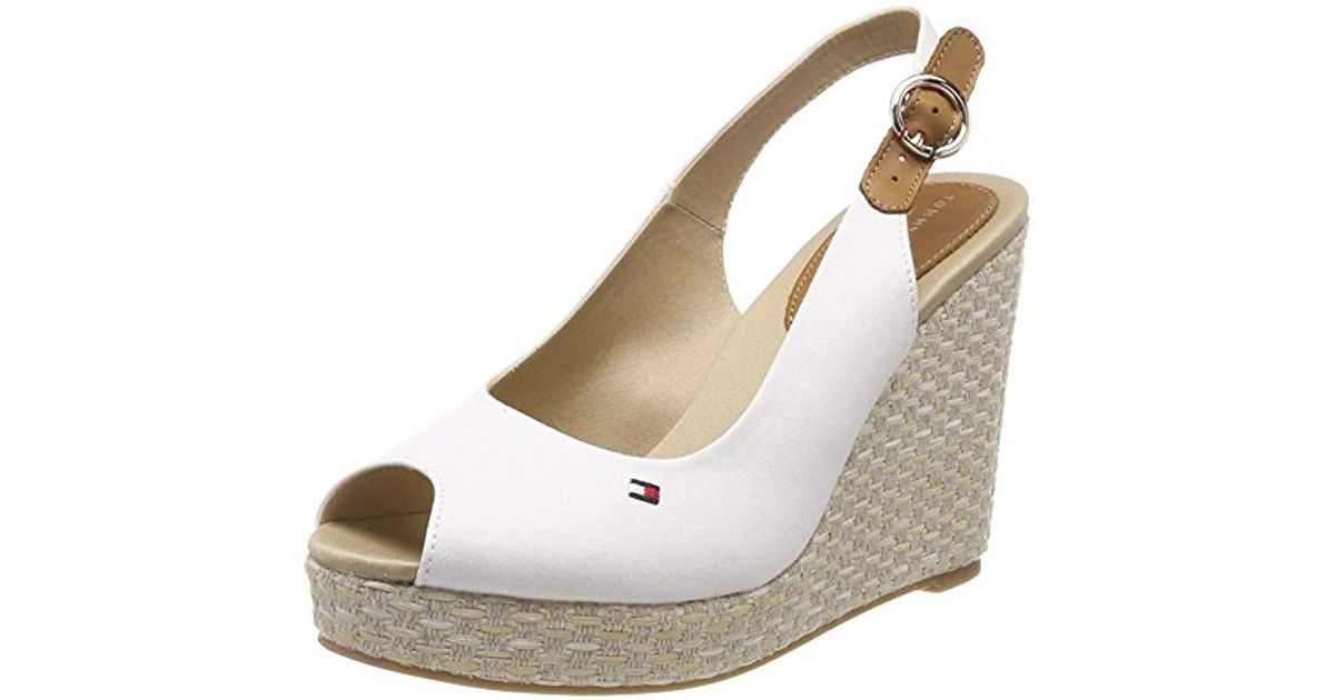 1437f69cf Tommy Hilfiger  s Iconic Elena Basic Sling Back Espadrilles in White - Save  1% - Lyst