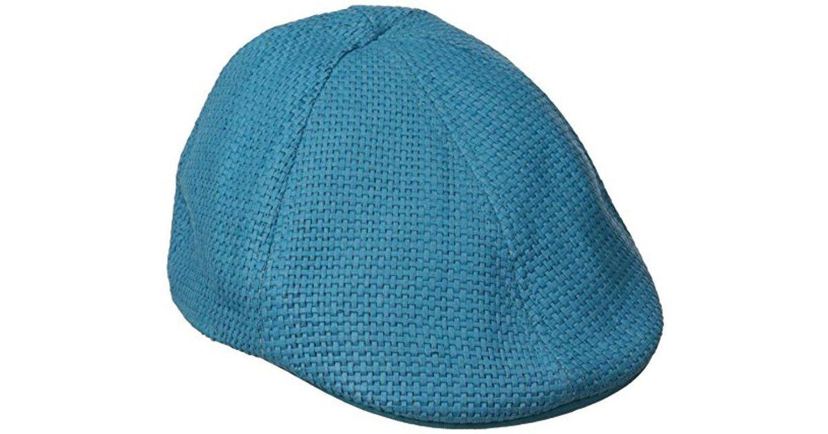 487dd7c7de901 Lyst - Original Penguin Victor Straw Driving Cap in Blue for Men