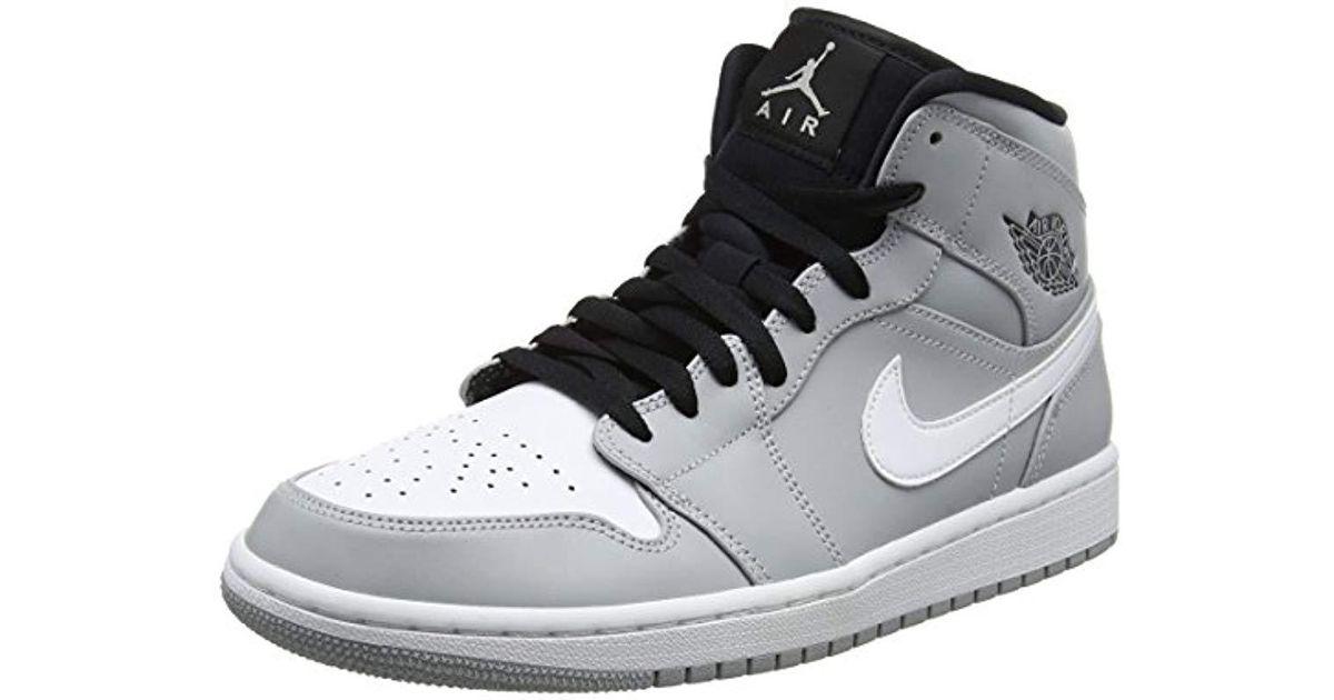 04ebe549beed89 Nike Air Jordan 1 Mid Sneakers in Gray for Men - Lyst