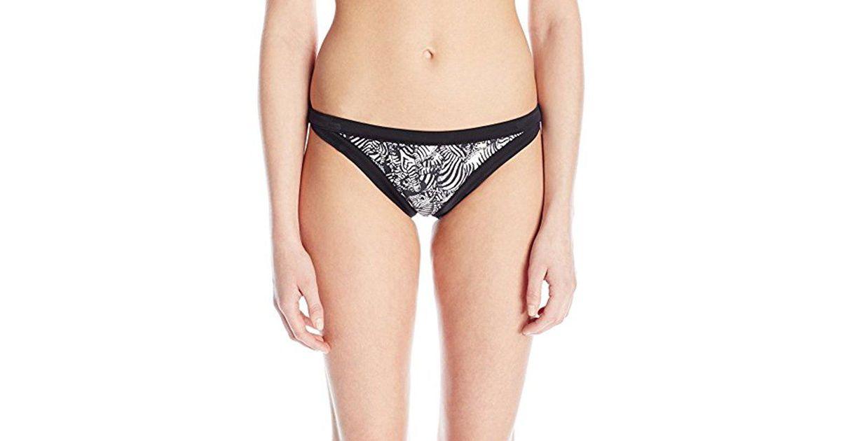 bc9f0dc86bb8f1 Lyst - Ted Baker Megui Zebra Puzzle Bikini Bottom in Black