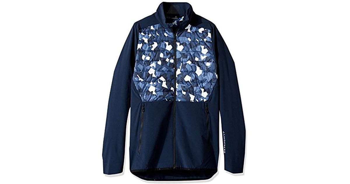38adfdc1bb86 J.Lindeberg M Hybrid Jacket Mixed Poly in Blue for Men - Lyst