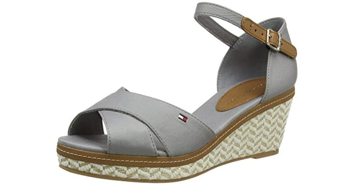 775f44d440e4ad Tommy Hilfiger E1285lba 31d Wedge Heels Sandals in Gray - Lyst