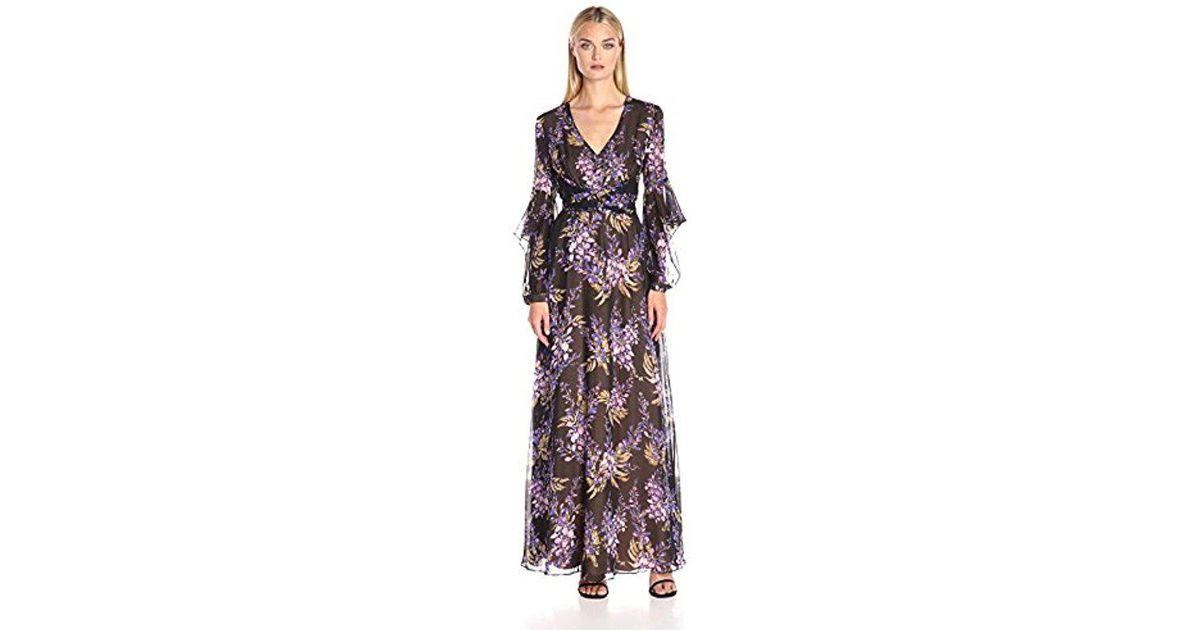 16961e85622c Lyst - BCBGMAXAZRIA Bcbgmax Azria Beverle V-neck Evening Gown