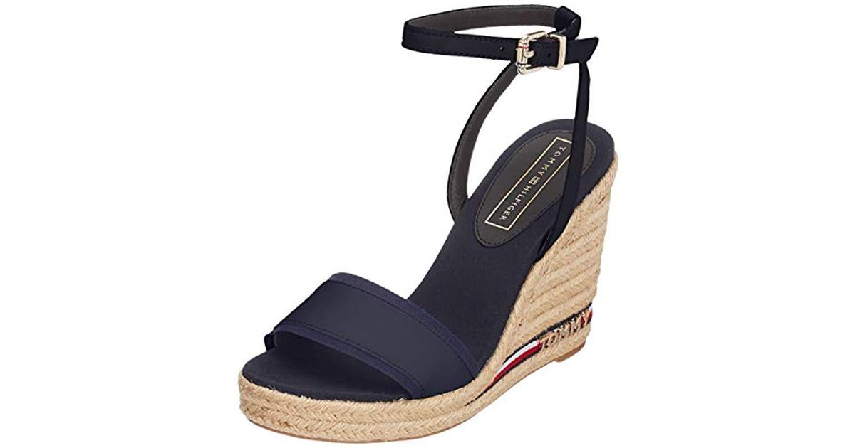 4965292531 Tommy Hilfiger Iconic Elena Corporate Ribbon, 's Platform Platform Sandals,  Blue (midnight 403), 7 Uk (42 Eu) in Blue - Lyst