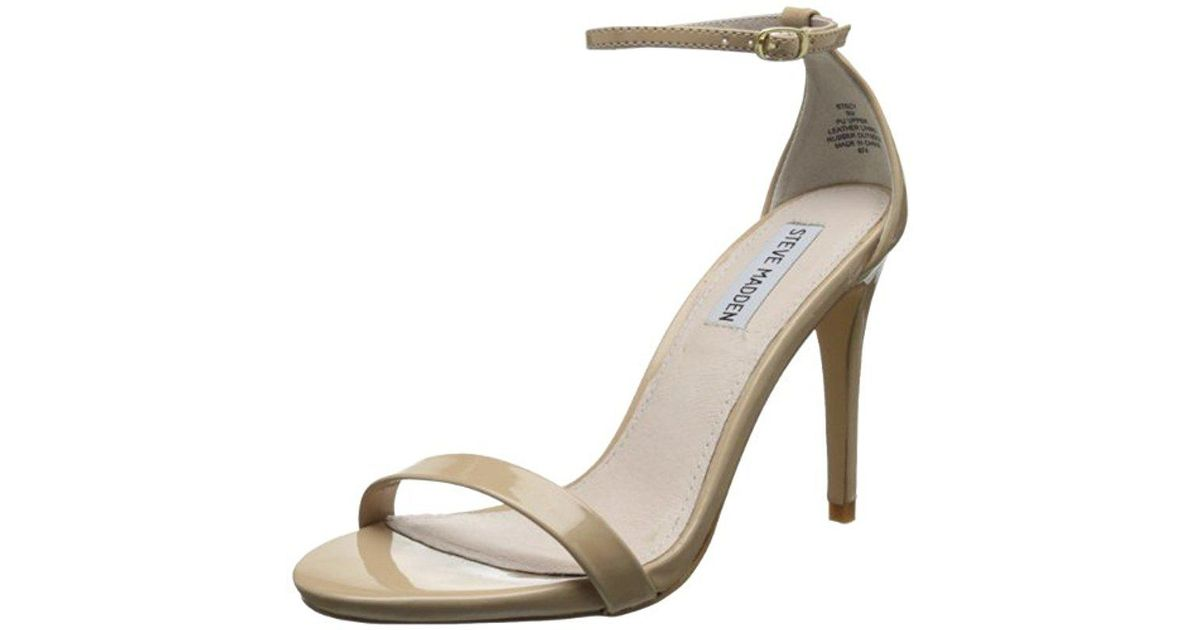 f2d0037a502 Lyst - Steve Madden Stecy Dress Sandal in Natural - Save 12.5%