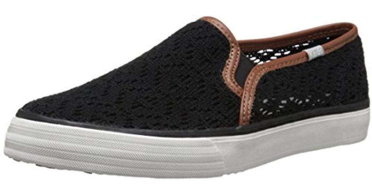c8b984d57 Lyst - Keds Double Decker Crochet Fashion Sneaker in Black