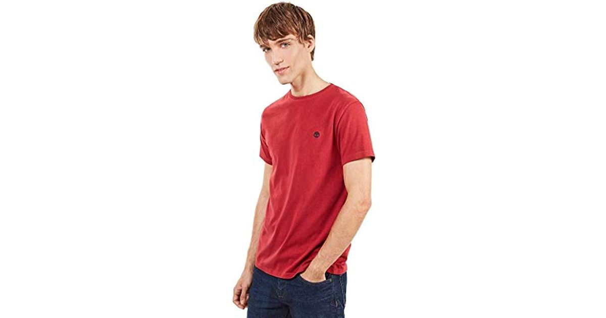 4f49a071 Timberland Ss Dunstan Rv Crew Slim Tee T-shirt in Red for Men - Lyst