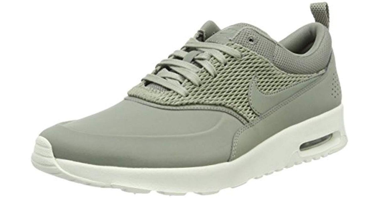Nike Green Air Max Thea Premium Leather Sneakers Green