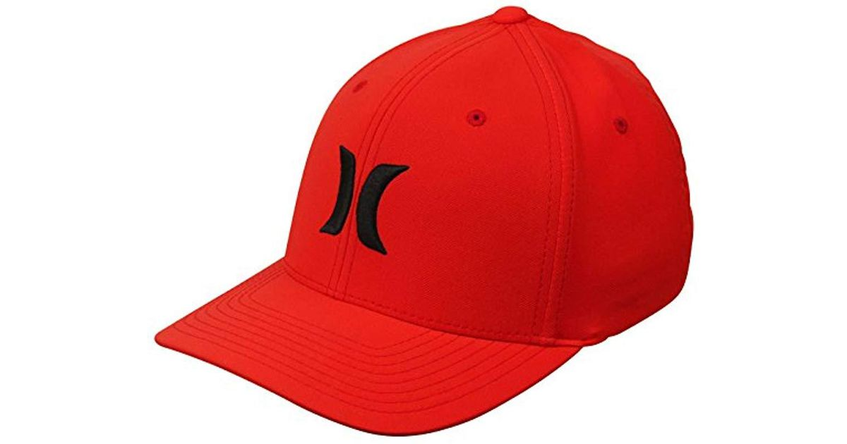 quality design 86a21 3f33c Lyst - Hurley Dri-fit One   Only Flexfit Baseball Cap in Red for Men - Save  11%