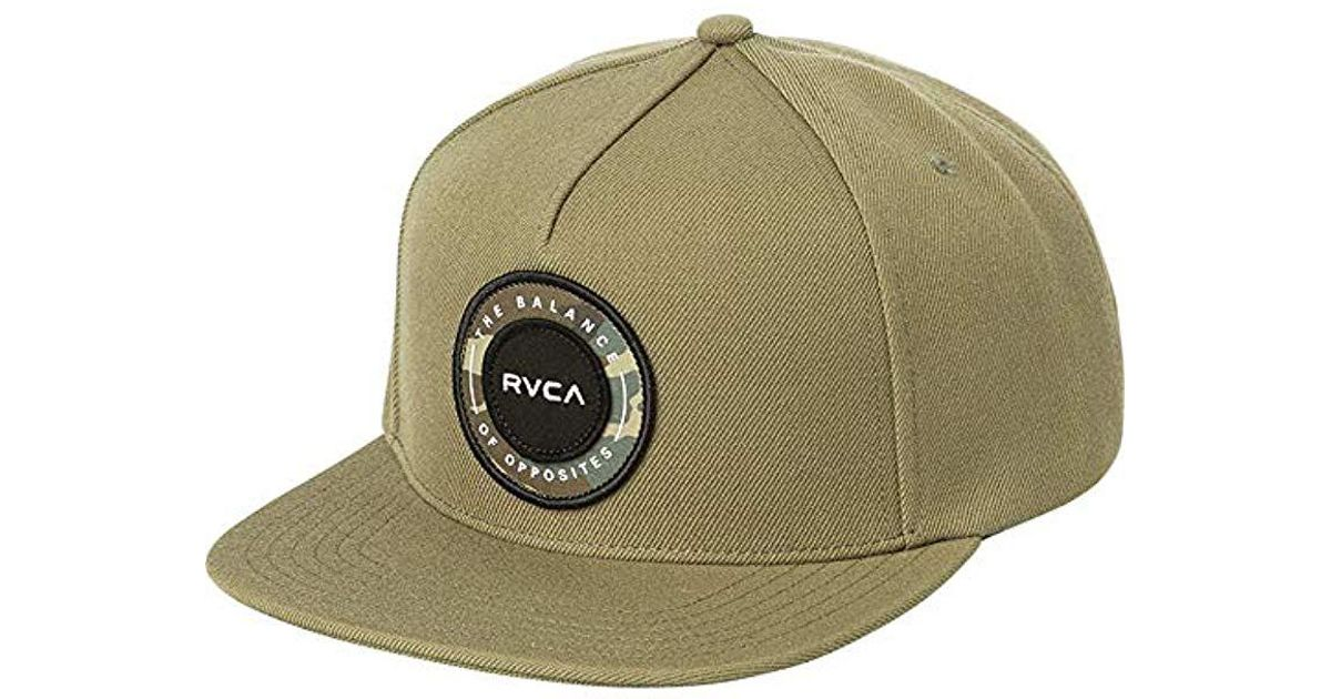 reputable site 1b236 76772 new arrivals lyst rvca radius snapback hat in green for men ac773 b064c