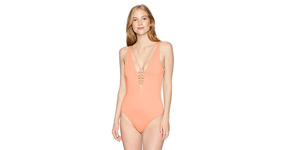6109cd4d8a94a O'neill Sportswear Salt Water Solids Macrame One Piece Swimsuit - Save 54%  - Lyst