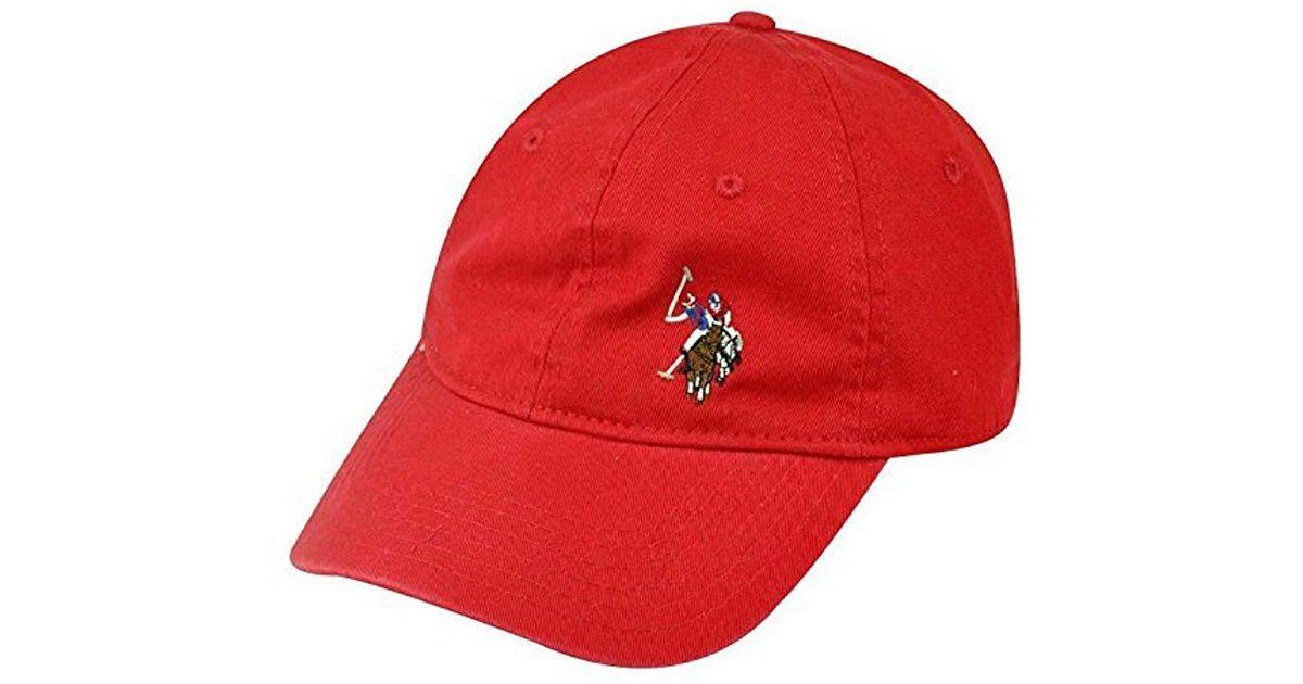 9c09680814b U.S. POLO ASSN. Men s Washed Twill Baseball Cap ...