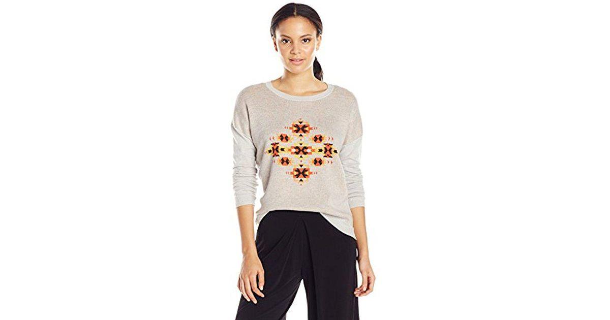 c9742ba09c Lyst - Kensie Speckled Melange Knit Sweater in Gray