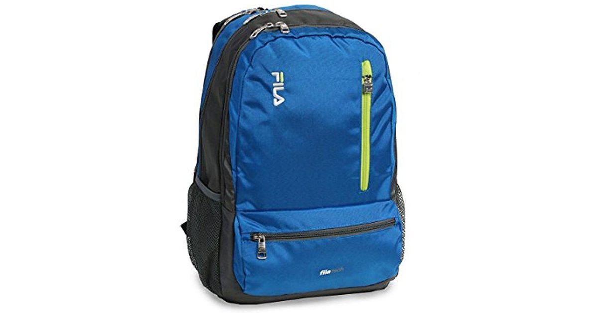 Lyst - Fila Nexus 5 Pocket School Laptop Tablet Backpack in Blue