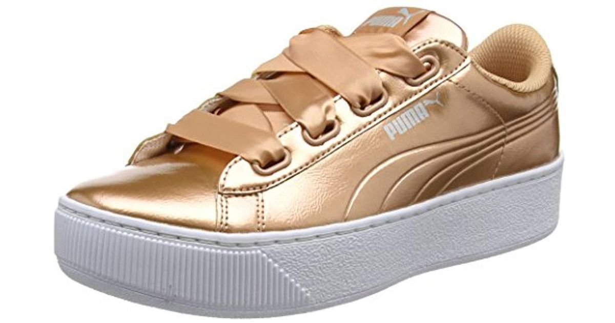 PUMA Vikky Platform Ribbon P Low-top Sneakers - Save 42% - Lyst 460fdc03f