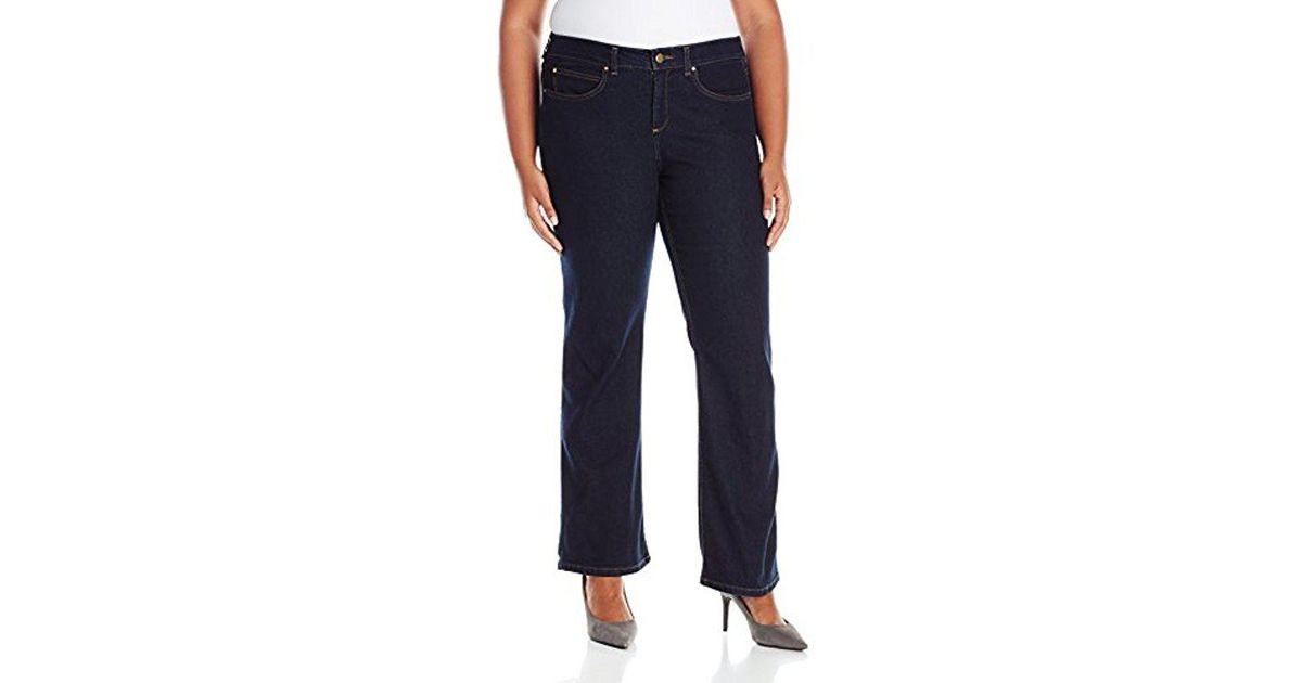71fdf961c51fc Lyst - Rafaella Plus Size Weekend Bootcut Slim Fit Jeans in Blue