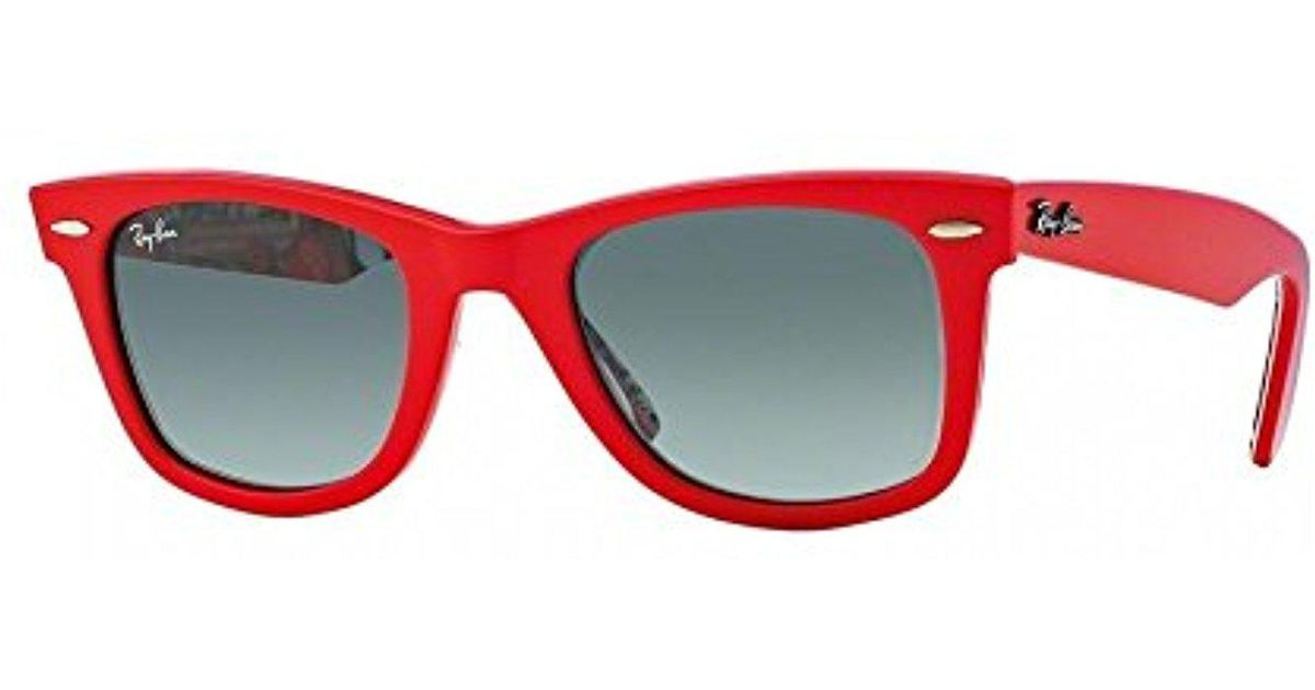 984f371518f ... greece lyst ray ban rb2140 original wayfarer sunglasses in red f7b44  052f7
