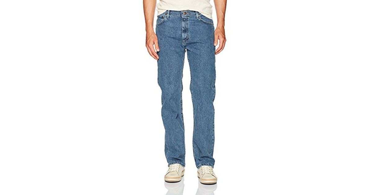 stretch relaxed waistband colours comfort label comforter fit iconic ex jeans wrangler mens cut flex sizes