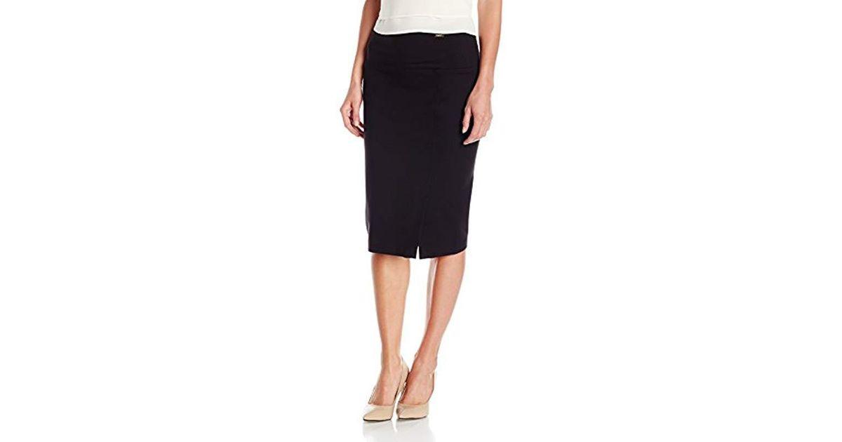 1b86f8c93d Ivanka Trump Tummy Control Midi Skirt in Black - Save 47% - Lyst