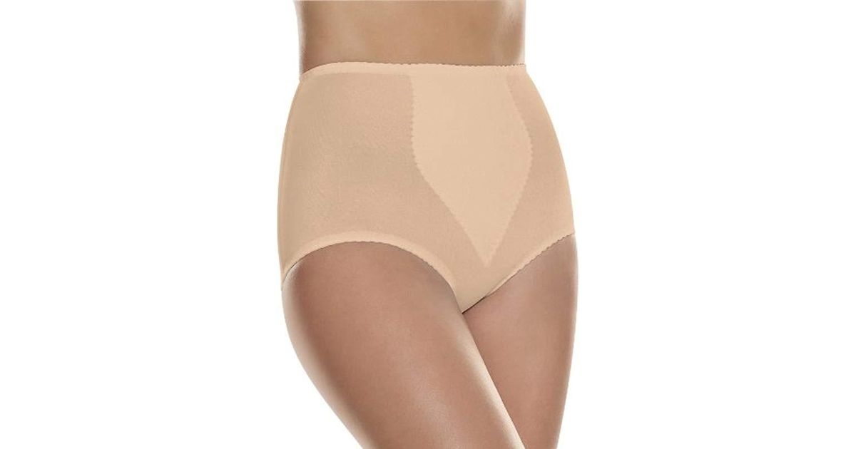 4b2498b0115 Lyst - Hanes Shapewear Light Control 2 Pack Tummy Control Brief in Natural