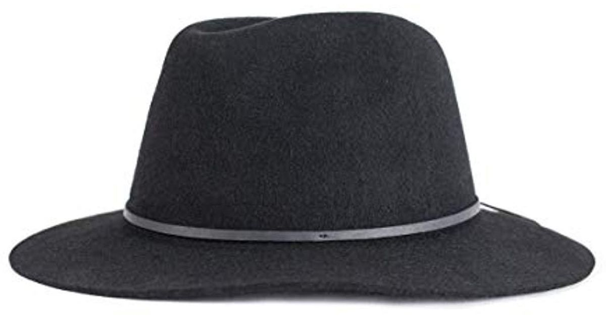 a45c7565 Lyst - Brixton Wesley Fedora Hat in Black for Men - Save 10%