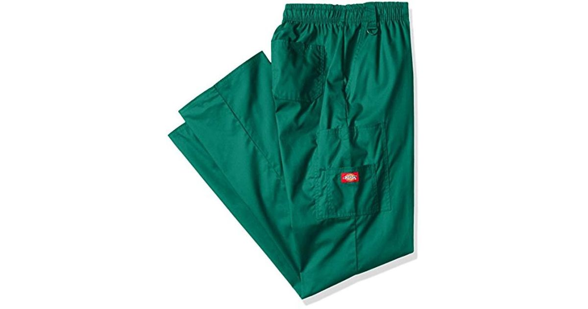 347123b79a5 Lyst - Dickies Big And Tall Eds Signature Zip Fly Pull-on Scrub Pant Big &  Tall in Green for Men - Save 16%