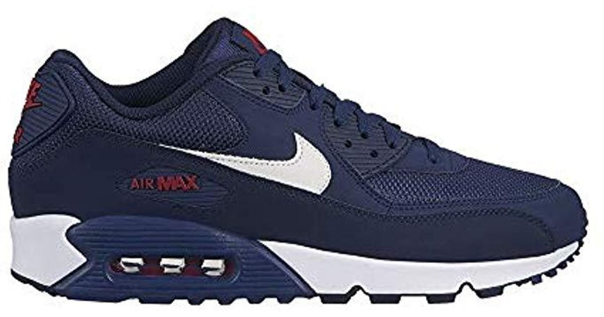 wholesale dealer 8b647 540c7 Nike Air Max 90 Essential Gymnastics Shoes, Multicolour (midnight  Navy white university Red 403), 10.5 Uk in Blue for Men - Lyst
