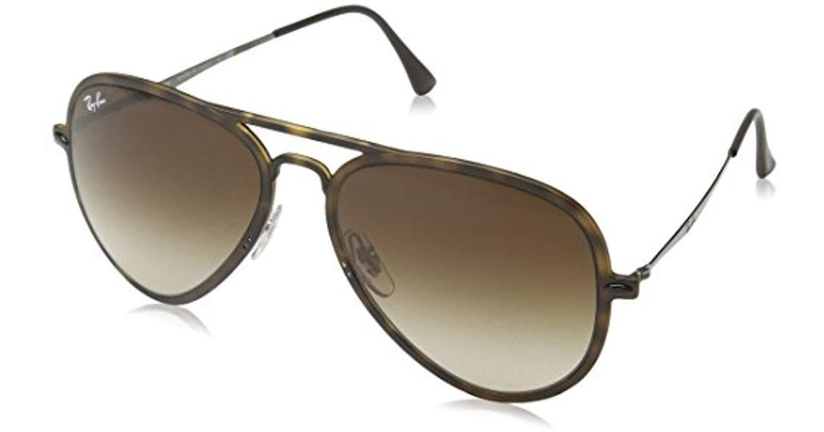 Ray-Ban Tech Light Ray Aviator Sunglasses In Matte Transparent Green Blue  Mirror Rb4211 646 55 56 for Men - Lyst 826987fc04