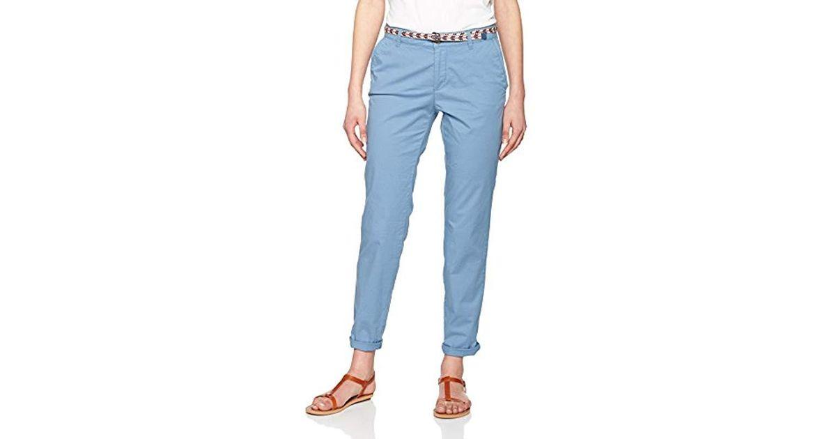 Lyst Blue con cinturón Esprit 037ee1b002Pantalones Mujer PiuXkZ