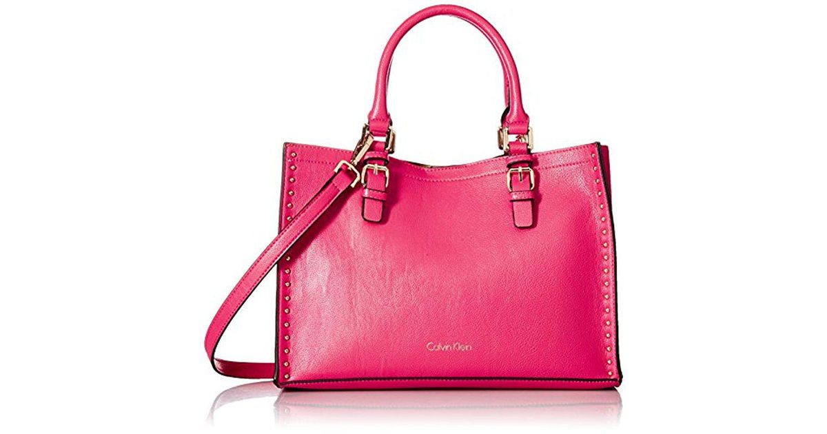 2d6196df030 Lyst - Calvin Klein Unlined Novelty Casual Tote in Pink