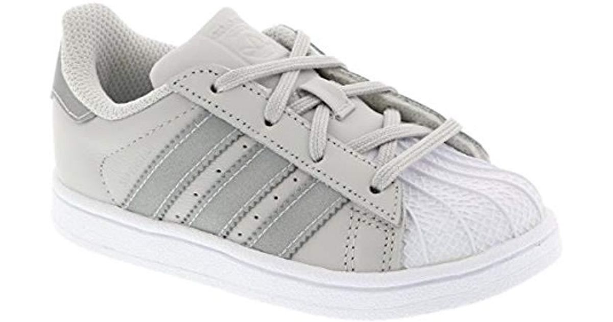 classic fit 5047e d0ec2 adidas Unisex Babies  Superstar I Gymnastics Shoes in Gray for Men - Lyst