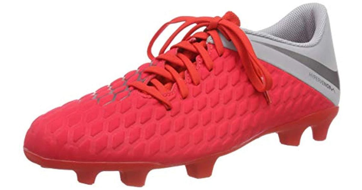 pretty nice d08f3 28bad Nike - Red Adults' Hypervenom 3 Club Fg Fitness Shoes for Men - Lyst