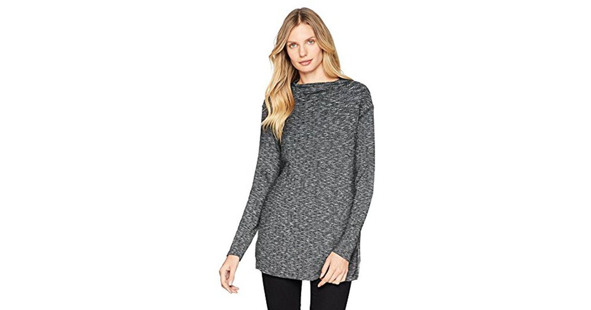 84c7623046f341 Lyst - Michael Stars Jasper Poorboy Long Sleeve Mock Neck Top in Gray