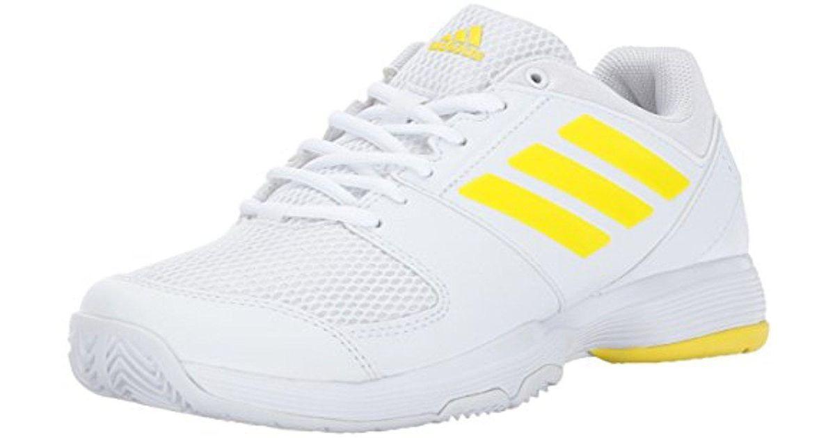 adidas white barricata corte scarpe da tennis lyst