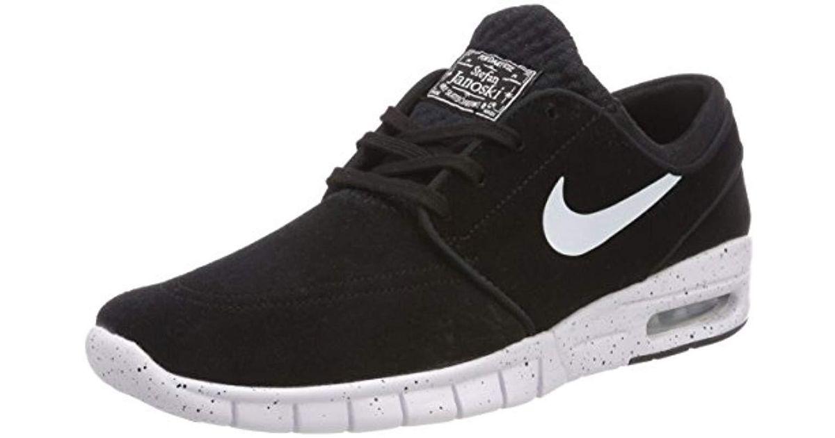 half off 37365 a78e6 Nike Stefan Janoski Max L Skateboarding Shoes in Black for Men - Save 81% -  Lyst