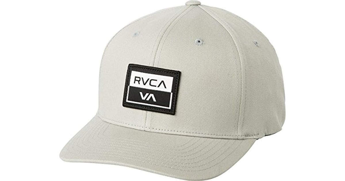 Lyst - Rvca Metro Flexfit Hat in Gray for Men 2f9e224258d