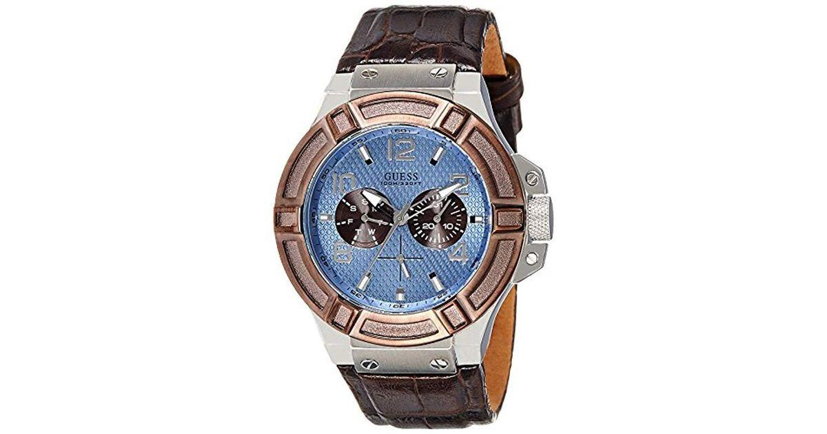 135d0c9a3672 Reloj analogico para Hombre de Cuarzo con Correa en Piel W0040G10 Guess de  hombre - Lyst