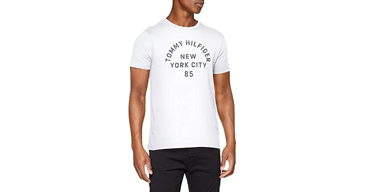 ca84432c79c0 Tommy Hilfiger  s Multi Layered Logo Graphic Tee T-shirt in White for Men -  Lyst