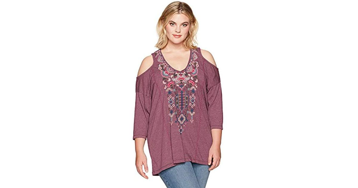 563d9abbae4 Lyst - Johnny Was Plus Size Nindi Cold Shoulder Tunic in Purple