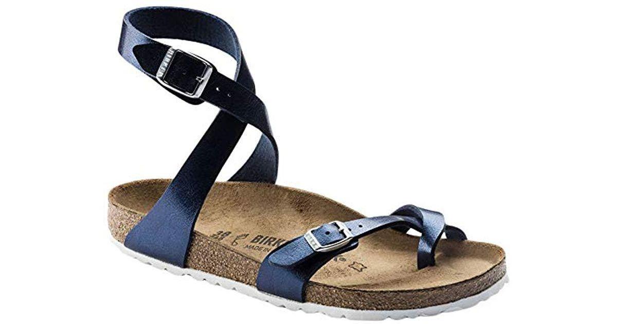 5998022bf Birkenstock Yara Sandals in Blue - Lyst