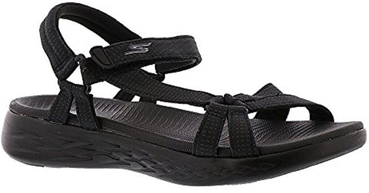 dee9ca39c4d6 Lyst - Skechers On-the-go 600-15315 Sport Sandal in Black - Save 29%