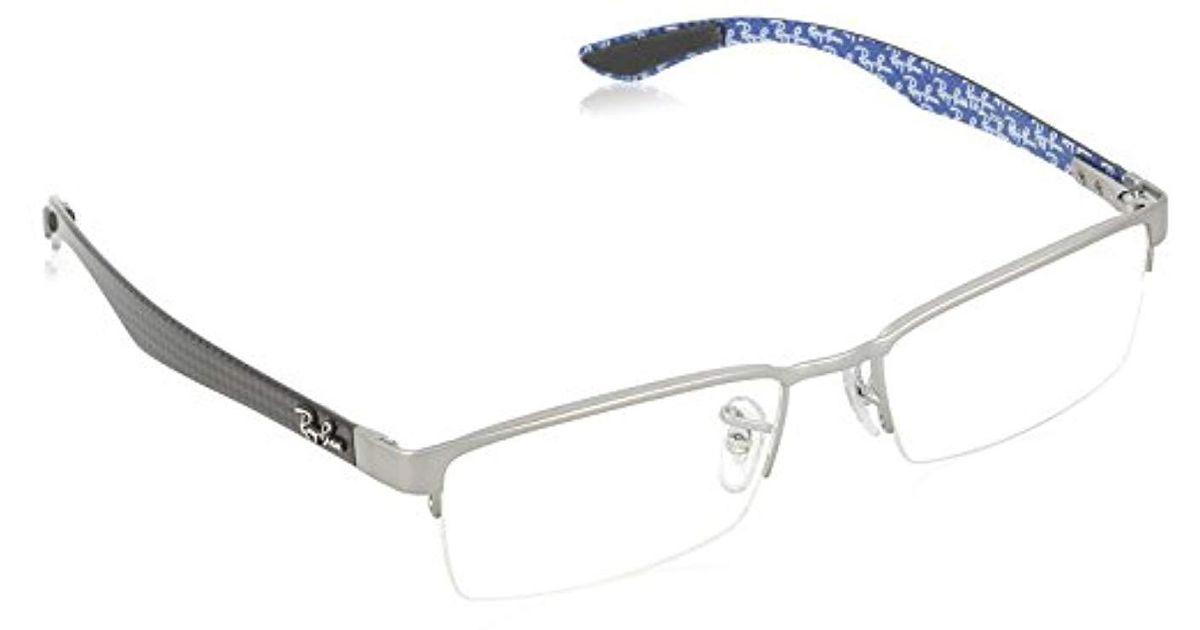 d7fb28efd0afe Lyst - Ray-Ban Ray Ban Rx8412 Carbon Fibre Eyeglasses for Men