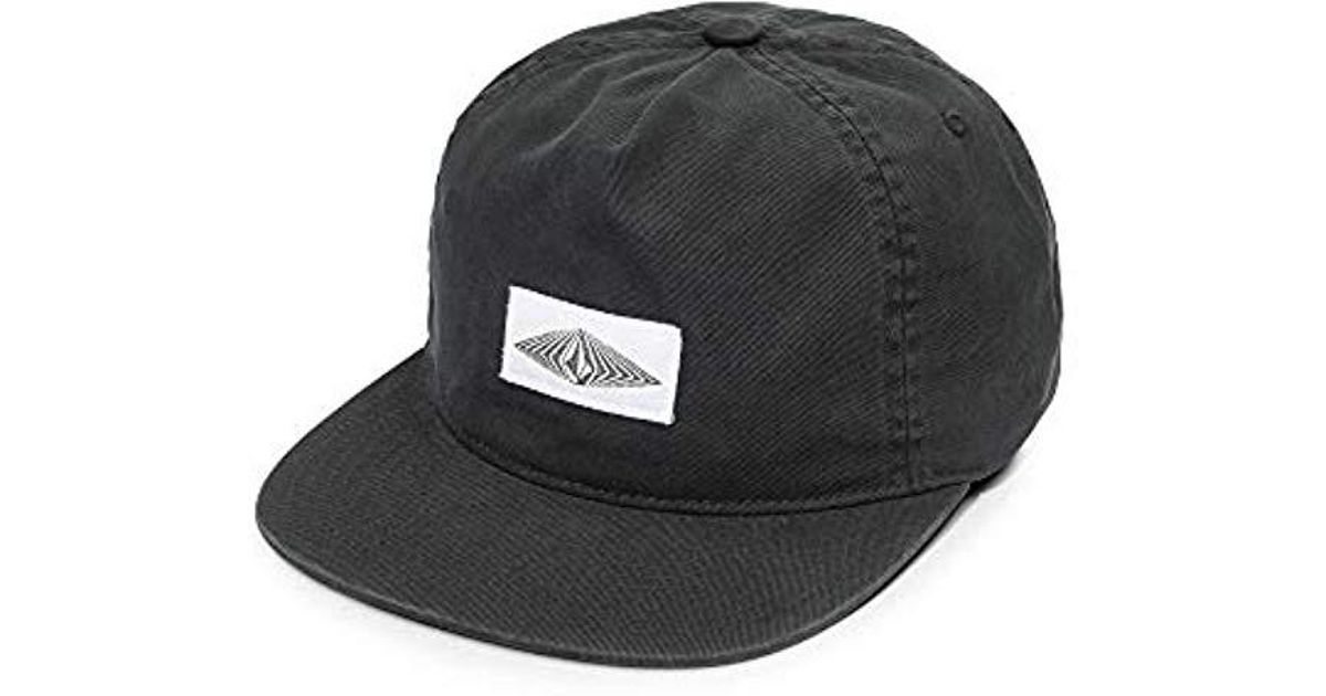 898cb20b64c504 Volcom Cycle Stone Five Panel Snapback Hat in Black for Men - Lyst