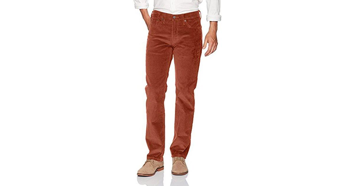 6393c531 Lyst - Levi's 514 Straight-fit Corduroy Pant in Brown for Men