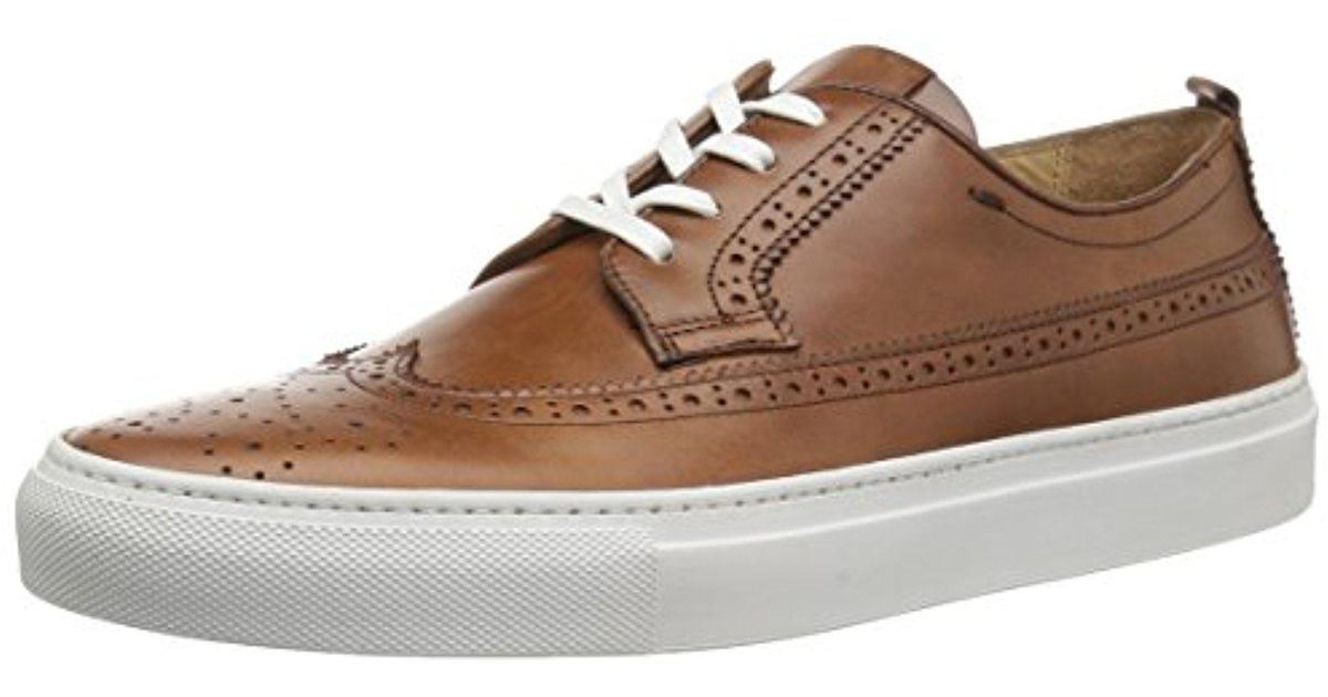 2d94dcfa6db Lyst - Kenneth Cole Grifyn Leather Sneaker B in Brown for Men - Save 71%