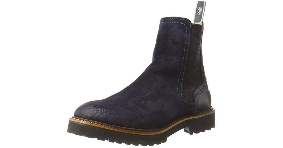 d87d03914b669f Marc O polo  s Flat Heel Chelsea 70814235001312 Boots in Blue - Save 12% -  Lyst