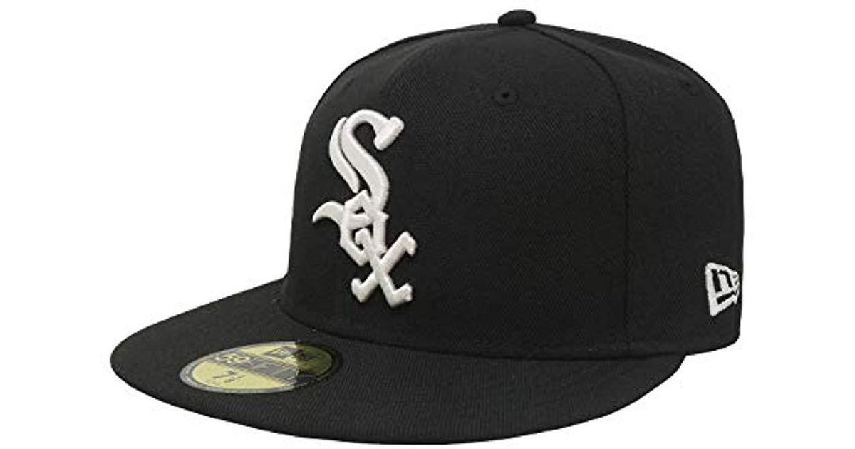 promo code eb7b1 73b2d Lyst - KTZ 59fifty Chicago White Sox Mlb 2017 Authentic Collection On Field  Game Cap in Black for Men