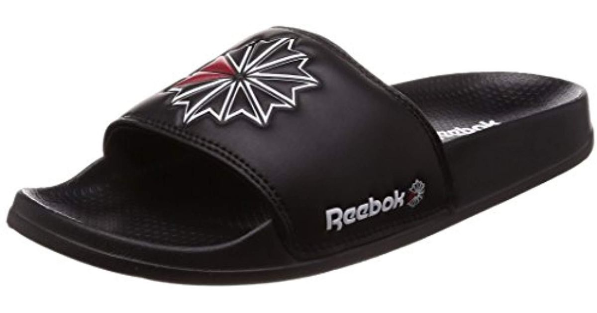 74690cffc126 Reebok Unisex Adults  Classic Slide Beach   Pool Shoes in Black - Lyst