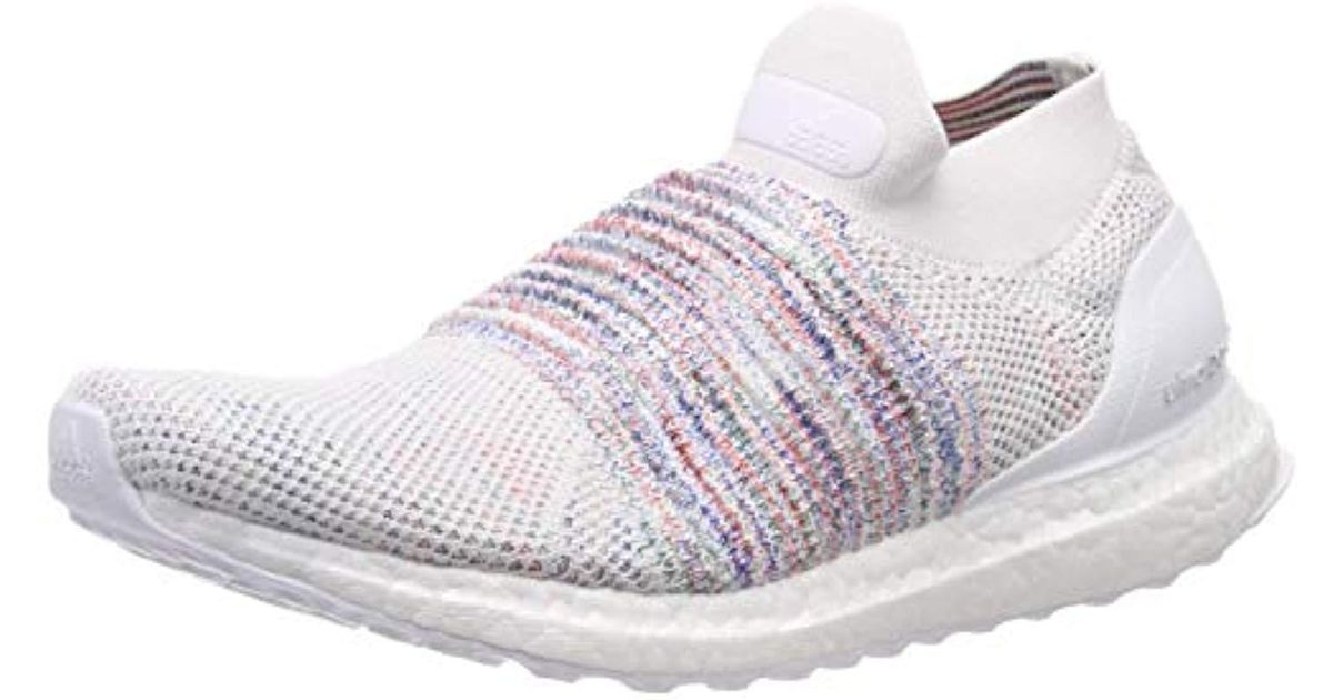 3e9329cc9793e Adidas - White Ultraboost Laceless Running Shoes for Men - Lyst